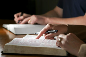 Bible with Pen