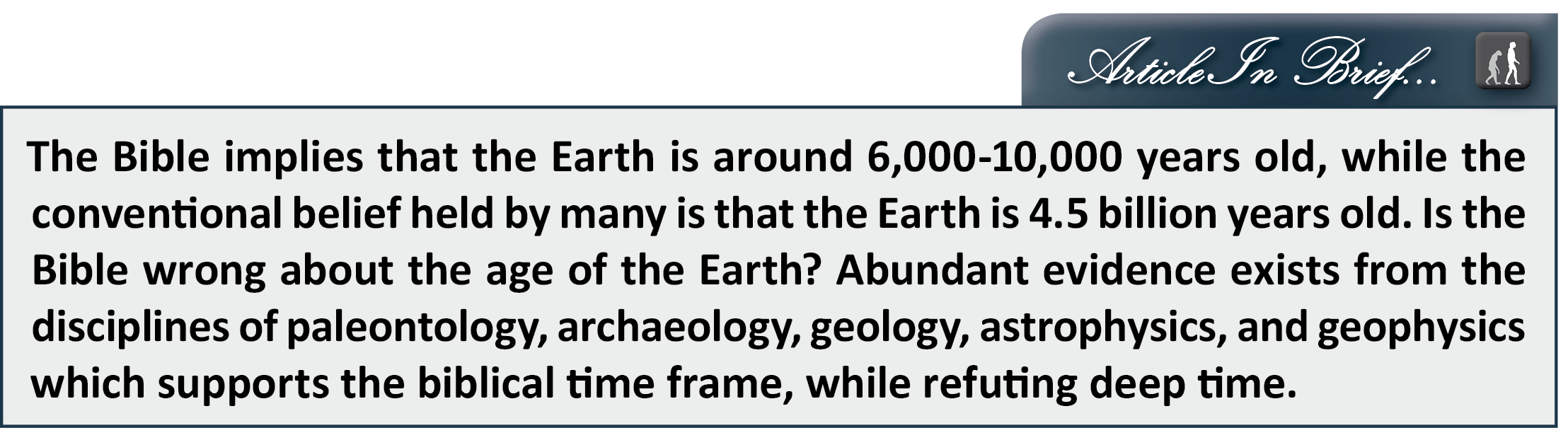 Apologetics Press 21 Reasons To Believe The Earth Is Young