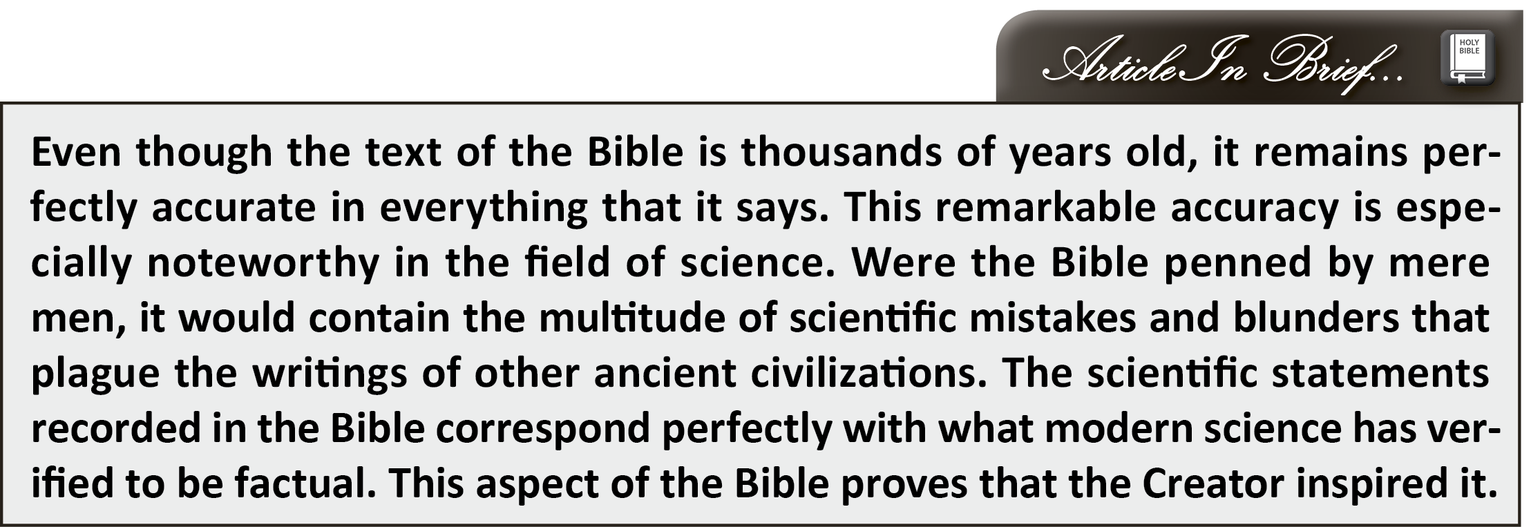 The Bible and Science - asa3.org