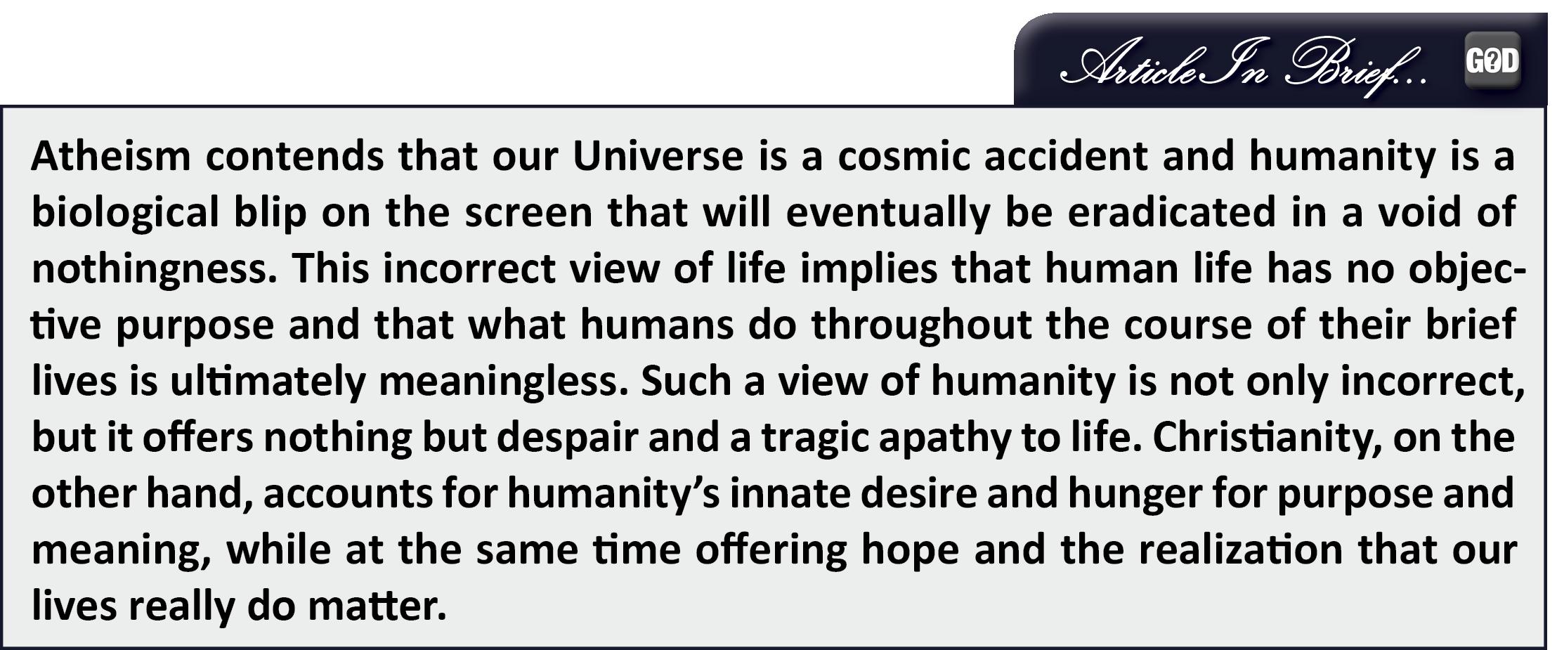 Apologetics Press The Despair Of Atheism